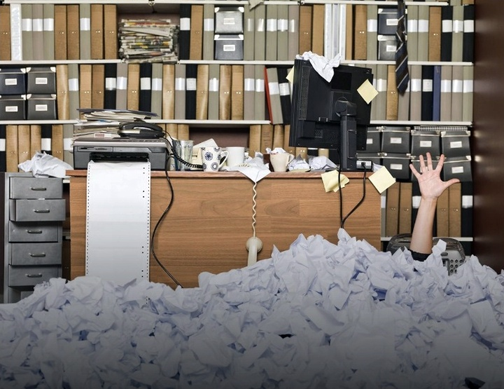 При росте компании затраченное на бумажный документооборот время постоянно увеличивается