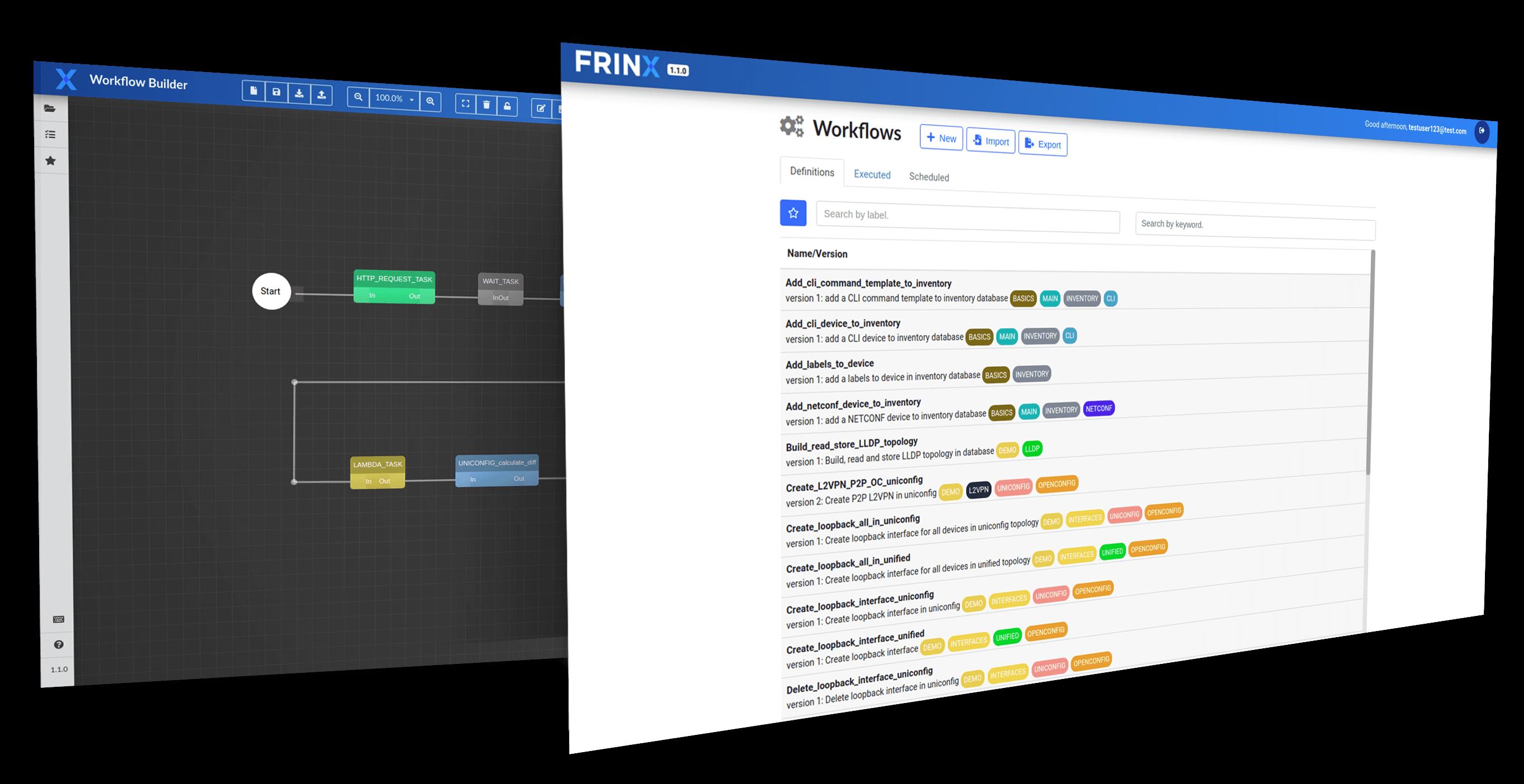 Frinx Workflow Orchestration