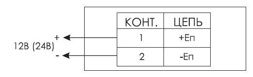 Схема подключения для светового табло КРИСТАЛЛ-12-CH / КРИСТАЛЛ-24-СН со скрытой надписью