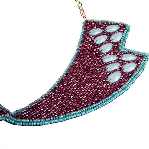 купить ожерелье воротник колье из бисера фото ожерелье натуральными камнями цена