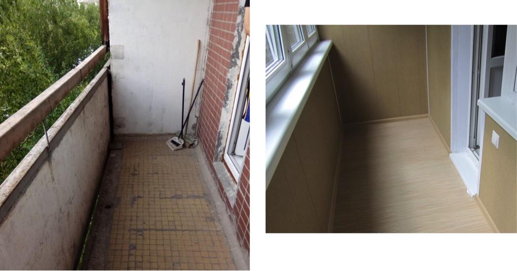 остекление балконов П46