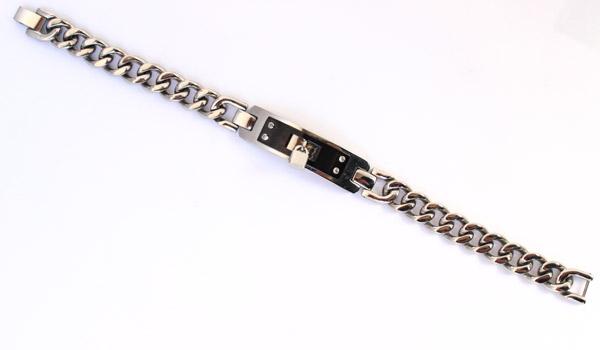 купить браслет - металлическая цепь с замком  фото
