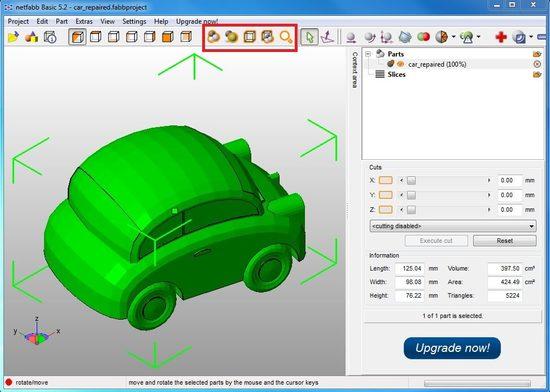 Правила 3D моделирования в netfabb Basic