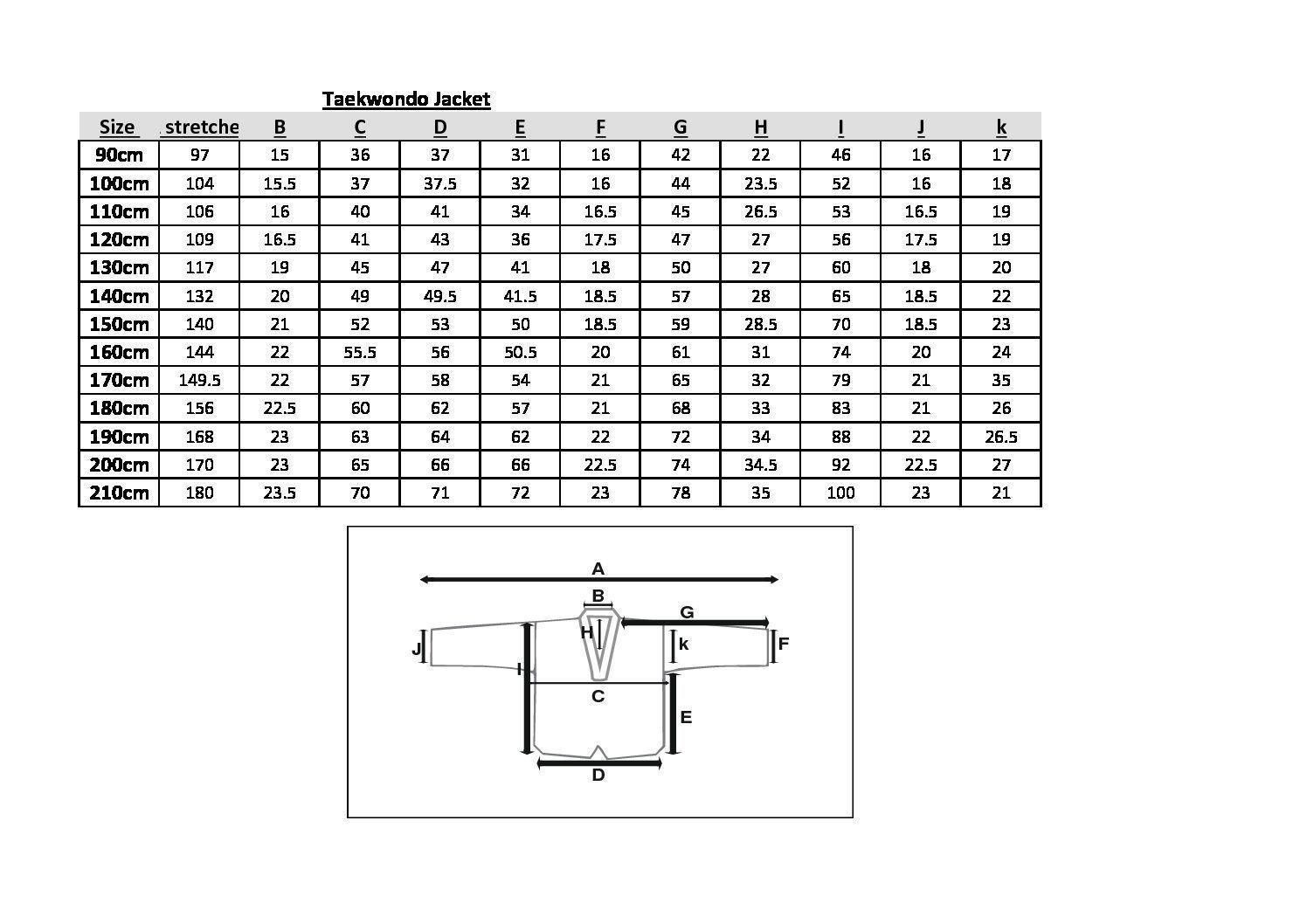 Tusah. Размеры добка WT 1