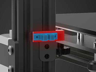 Принтер оборудован концевыми выключателями Double Z, которые обеспечивают более стабильную ровность печатной платформы.