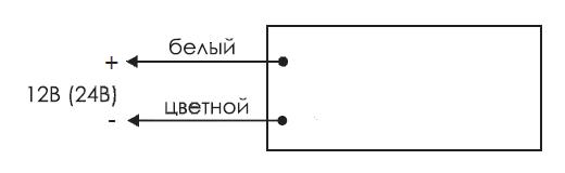 Схема подключения для двухстороннего светового табло «Выход» КРИСТАЛЛ-12-Д / КРИСТАЛЛ-24-Д