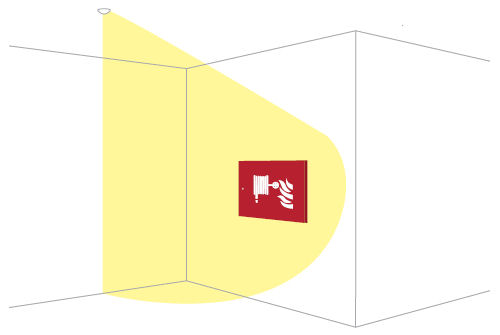 Применение светильников аварийного освещения эвакуационных проходов BOA-IN W1
