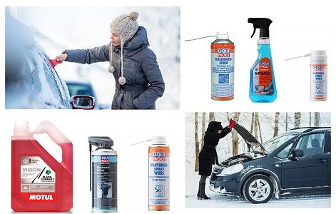 Для чистки и ухода за стеклами автомобиля в морозы