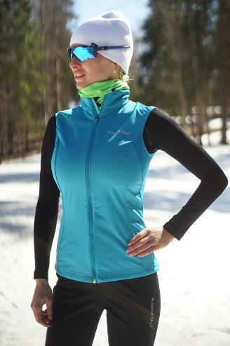 Все современные жилеты защищают лыжника от пронизывающего ветра. Лучше всего с этим справляются мембранные материалы LokkerPoint и Gore-Tex Active