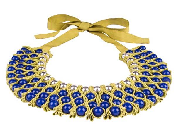 необычное ожерелье на шею воротник из ткани купить фото картинки
