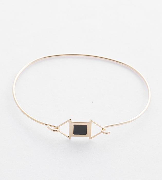 купите тонкий браслет в стиле арт-деко Edwin noir от Chic Alors-Paris
