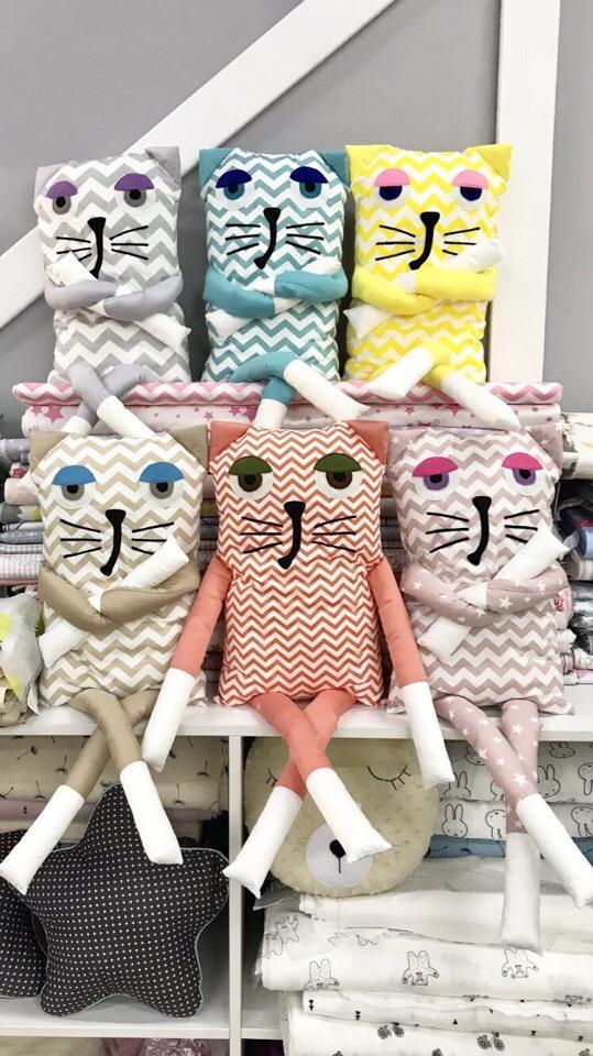 Мягкие игрушки котики на заказ