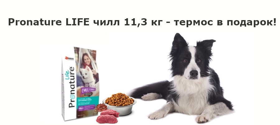 ProNature LIFE Чилл 11,3 кг + термос в подарок