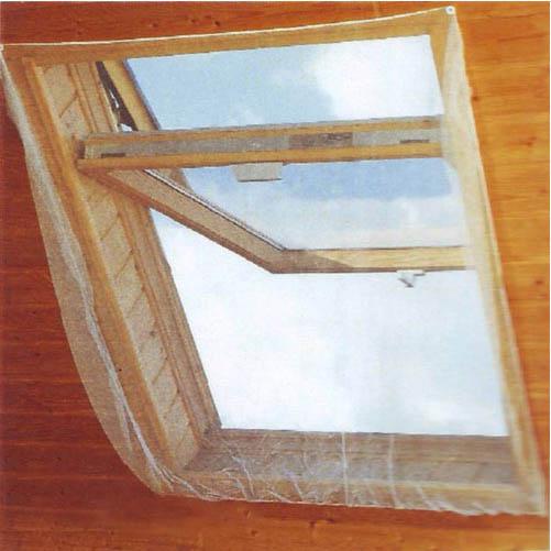 Москитная сетка мансардная на резинке белая, 1,3х1,5м.