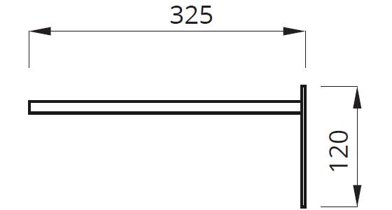 Размеры кронштейна под светильник