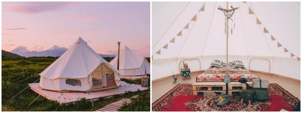 Палаточный сер-кемп на Камчатке