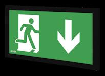 INFINITY II B эвакуационный указатель в черном корпусе
