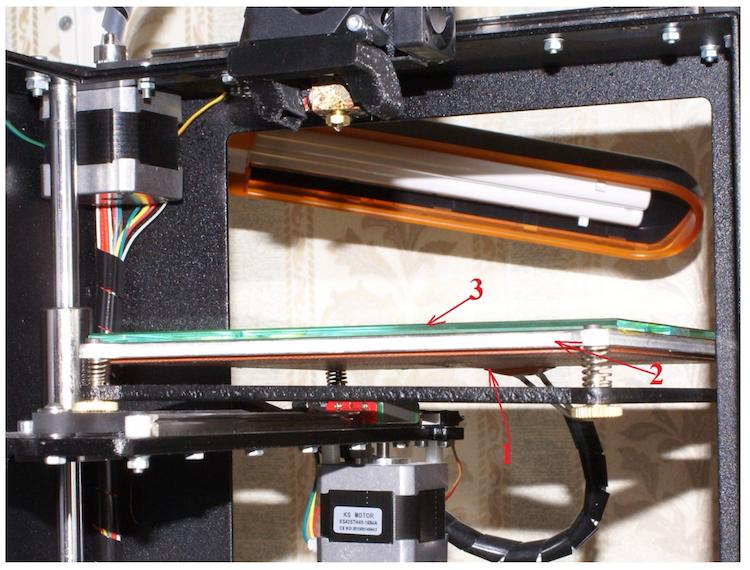 Подогреваемая рабочая платформа 3D принтера