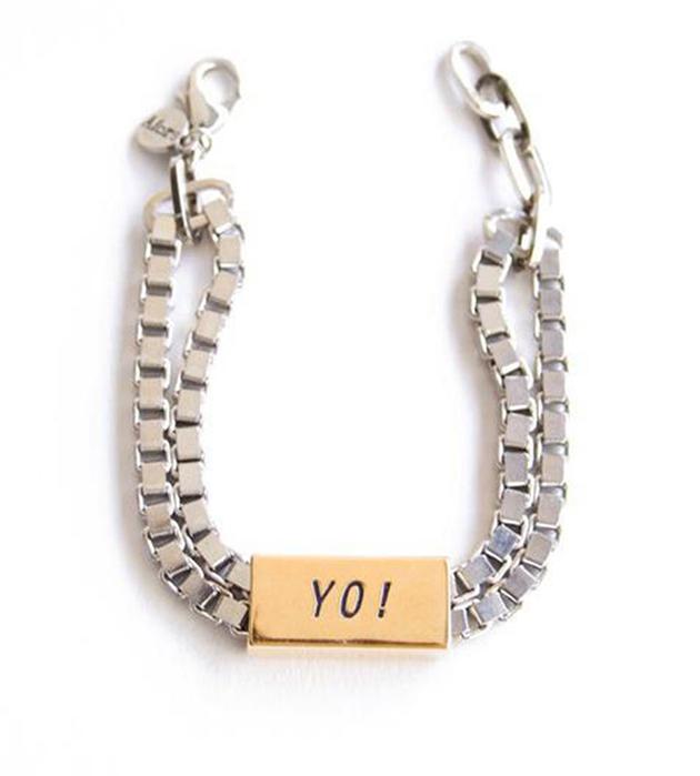 Cтильный браслет из латуни с надписью Typo YO от Chic Alors-Paris