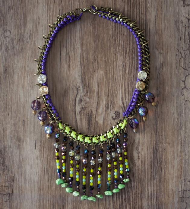 Разноцветное ожерелье-каскад от Mava Haze