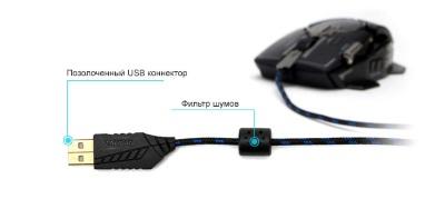 Позолоченный USB-коннектор и фильтр шумов