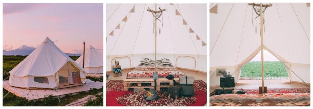 Палаточный серф-кемп на Камчатке