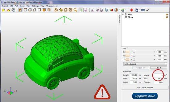 3D модель с ошибкой