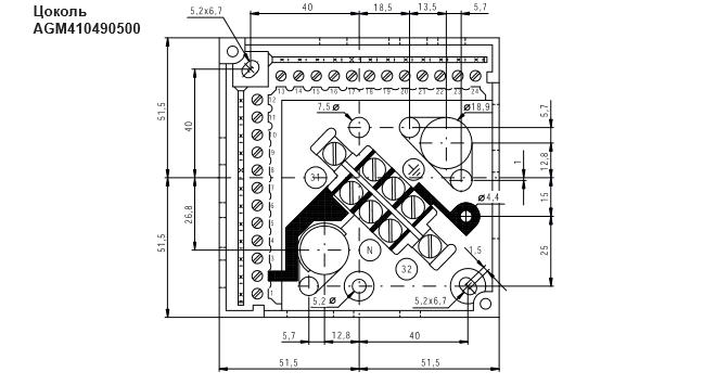 Размеры корзины для блока управления Siemens AGM410490500