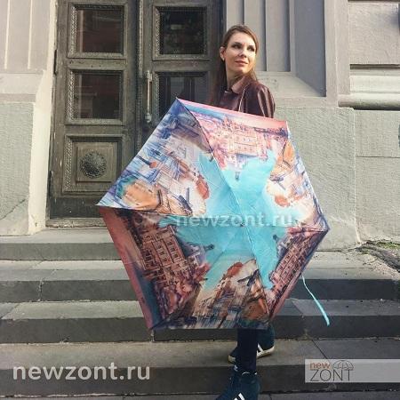 Складной женский зонт-автомат Ламберти купить в Москве