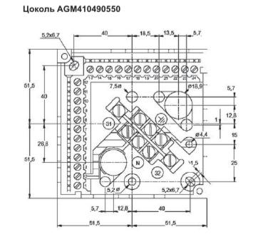Размеры базы Siemens AGM410490550