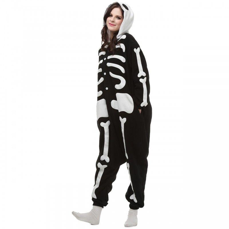 Обзор на пижаму кигуруми скелет