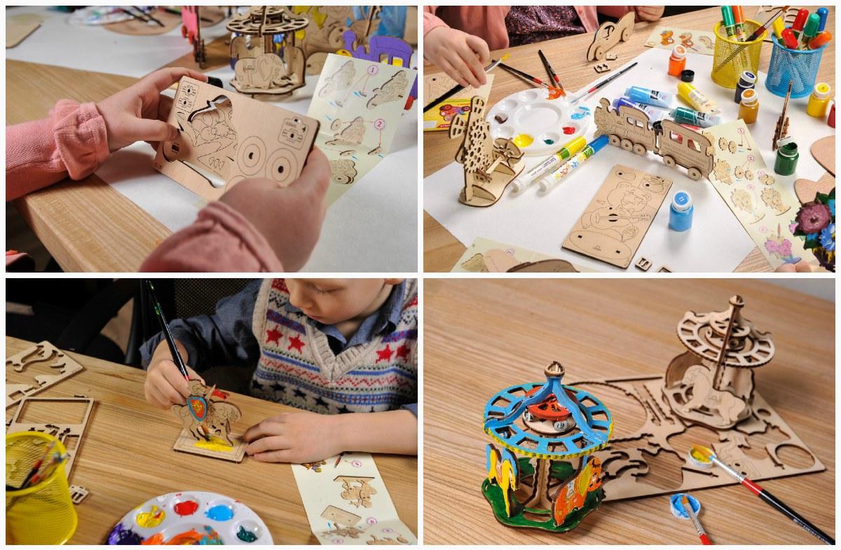Сборка деревянные 3D пазлы