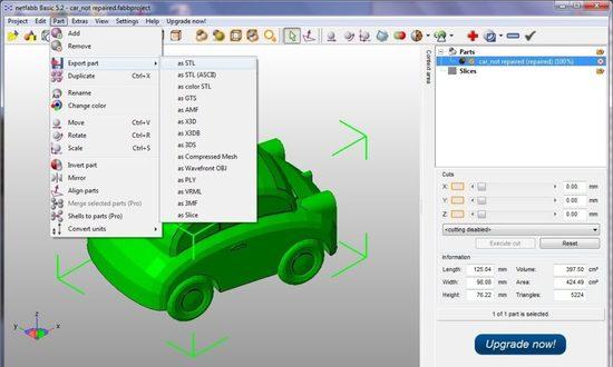 Экспорт 3D модели в STL формат