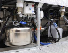 Молочная колба/линия с молочными насосами для доильного зала Карусель, внешняя