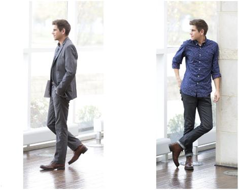 Шнурованная обувь для мужчин – 2 в 1