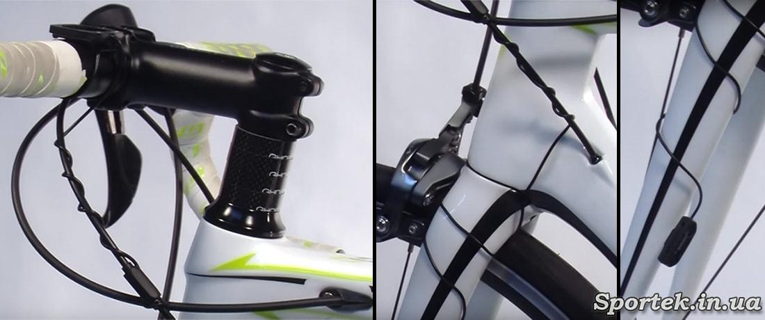 як прокладати провід на велокомп'ютер