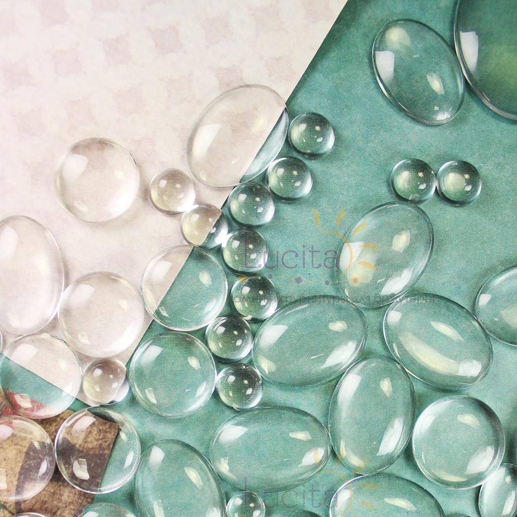 купить прозрачные стеклянные кабошоны в интернет-магазине