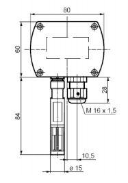 Размеры датчика Siemens QFA3101