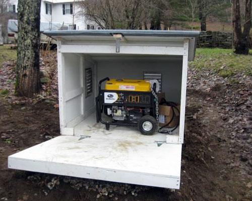 Фото защиты генератора от дождя и снега