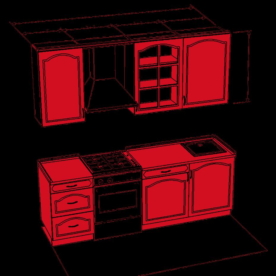 Бесплатный проект кухонного гарнитура