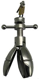 металлический анальный расширитель с винтовым механизмом
