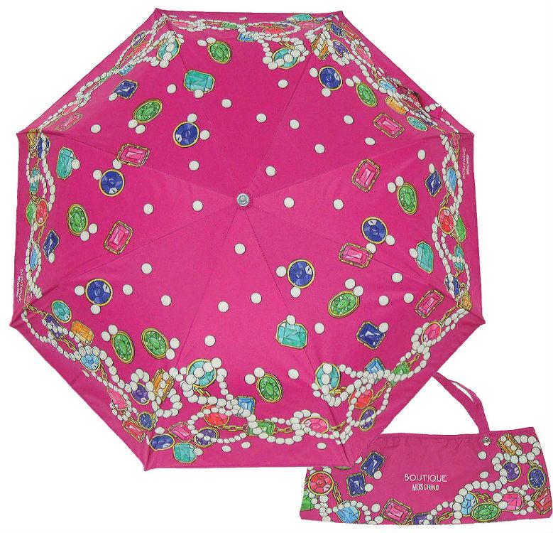 Москино зонтик фуксия