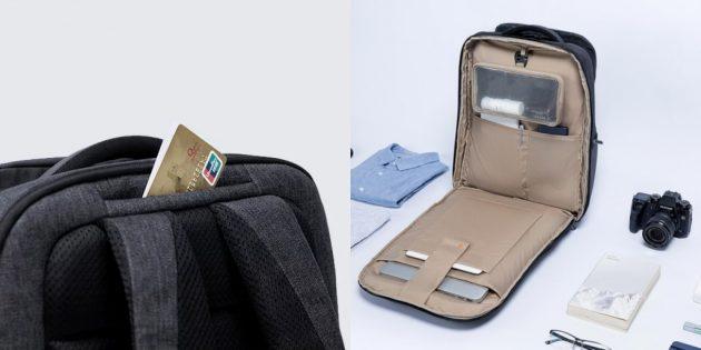 Основное отделение рюкзака раскрывается на 180 градусов