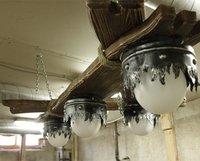 Лампа в стиле шале