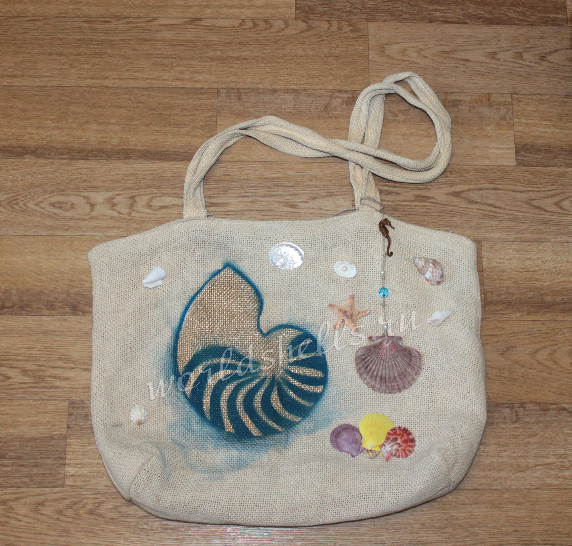 Декор сумки в морском стиле