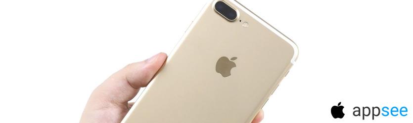 Айфон 7 Плюс в золотом цвете