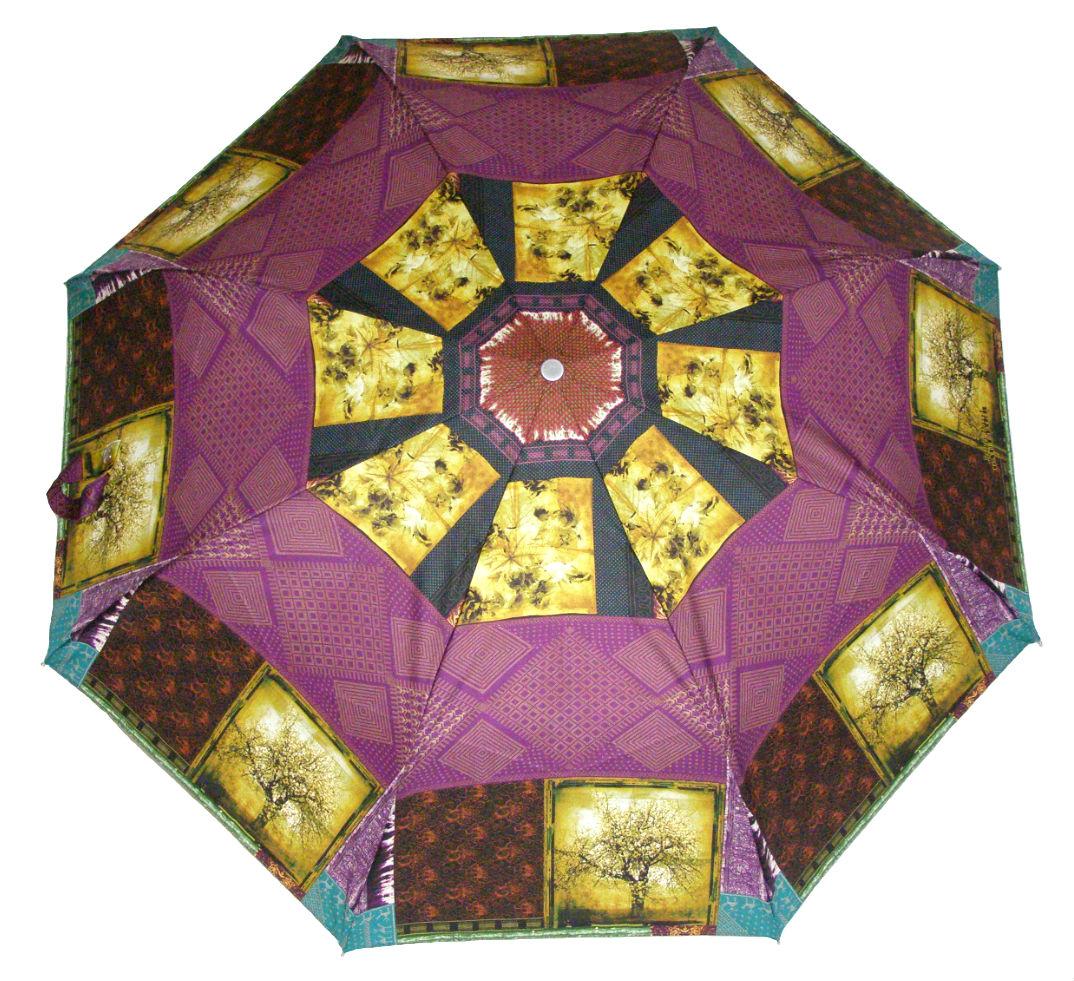 Зонтик Индийские мотивы бордо