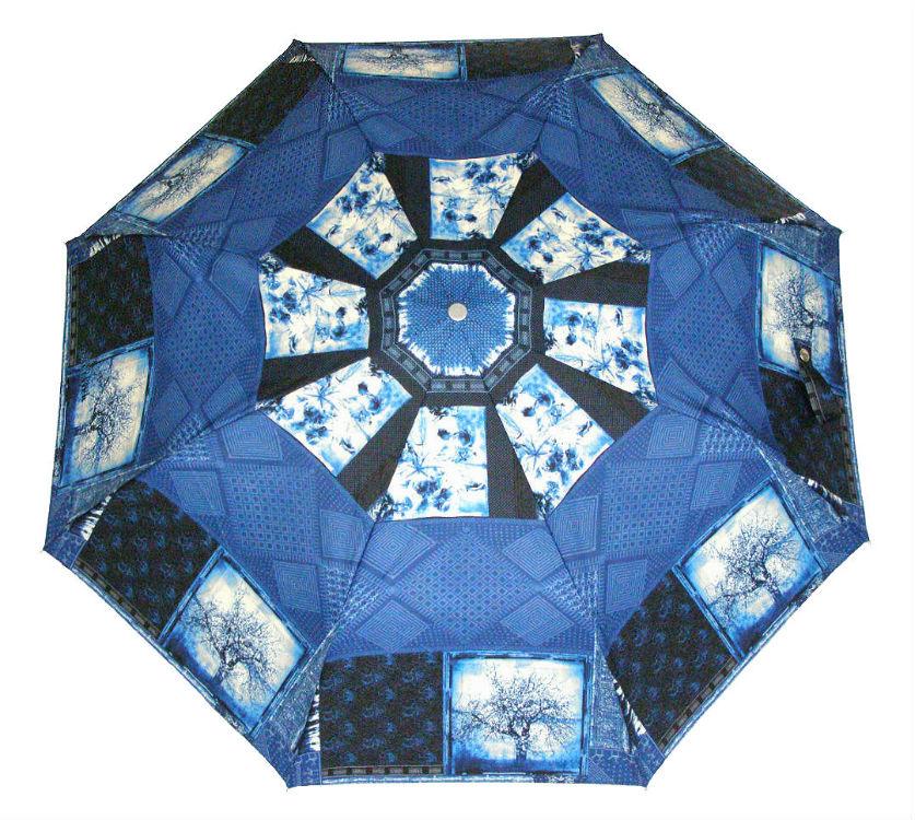 Зонтик Индийские мотивы синий цвет