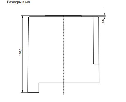 Размеры автомата горения Siemens LOK16.250A27
