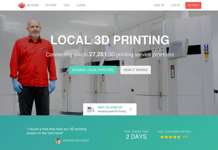 3dhubs сервис 3д печати